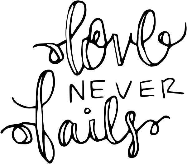 Love Never Fails Stamp