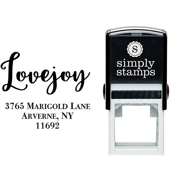 Lovejoy Script Address Stamp Body and Design