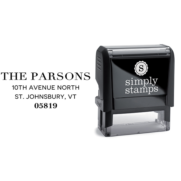 Parsons Classic Return Address Stamp Body and Design
