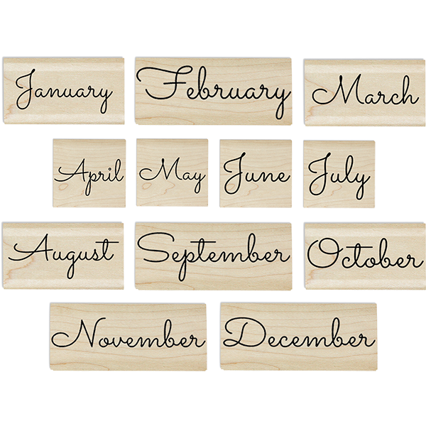 Months of the Year Stamp Set
