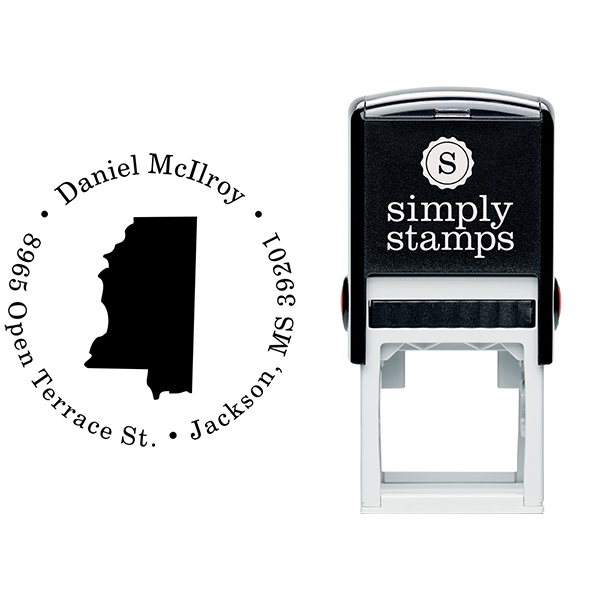 Mississippi Round Address Stamp Body and Design