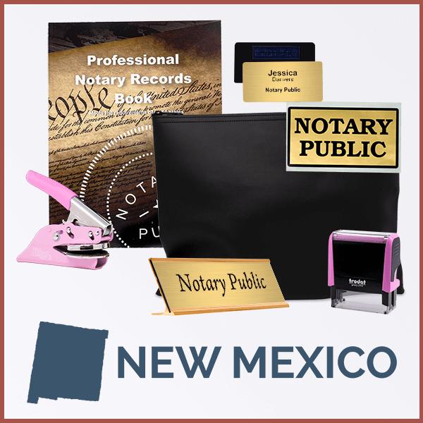 New Mexico Pink Deluxe Notary Kit