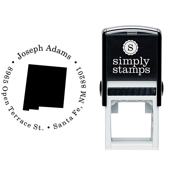New Mexico Round Address Stamp Body and Design