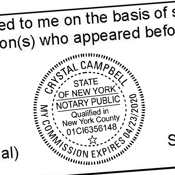 New York Notary Round Seal Stamp Tap On The Above Image For More Views