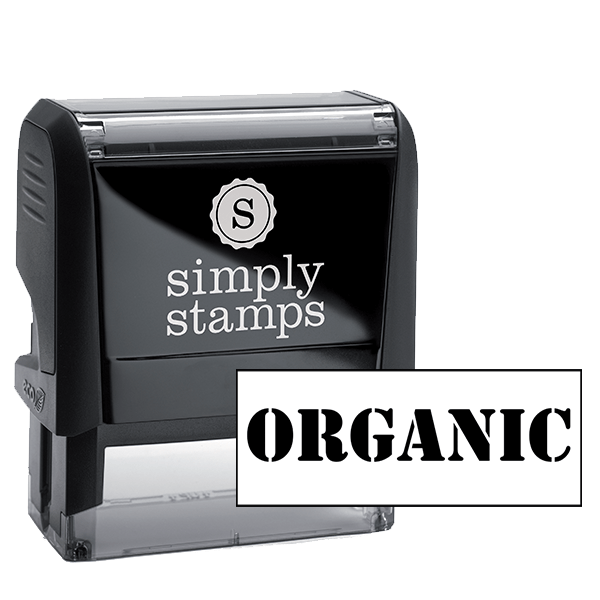 ORGANIC Rubber Stamp