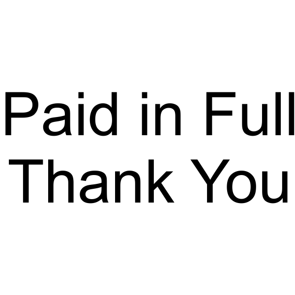 Paid in Full - Thank You Stamp