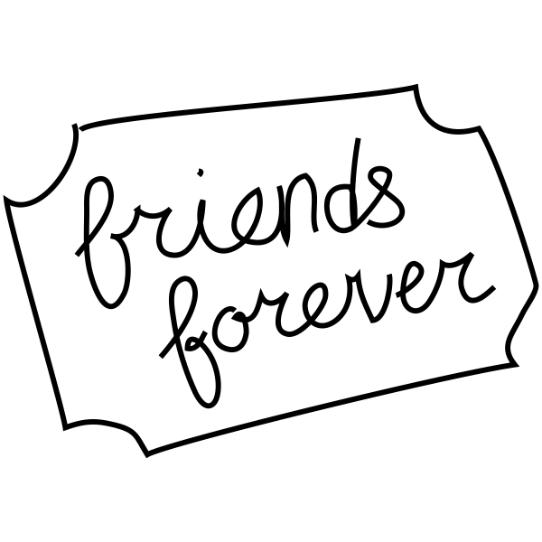 Friends Forever Craft Stamp