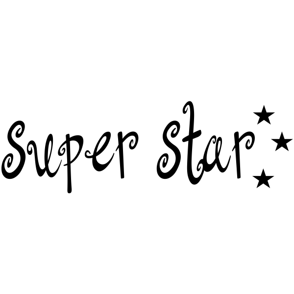 Super Star Teacher Craft Stamp