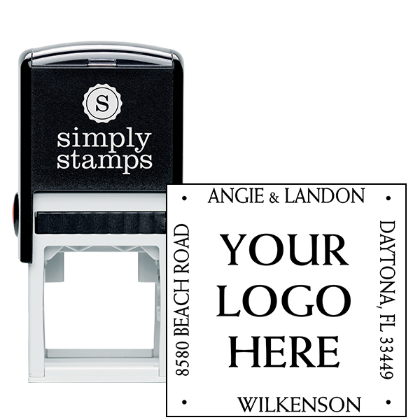 four way square logo address stamp simply stamps Texas Notary Public Logo Notary Public Seal