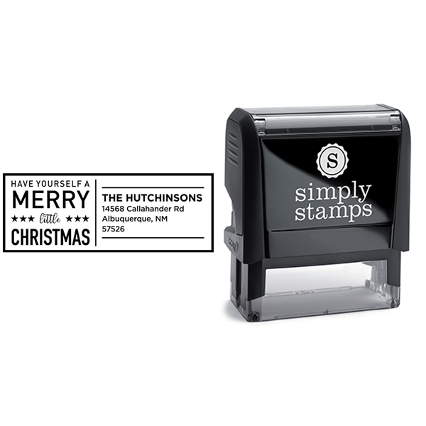 Have Yourself A Merry Little Christmas Holiday Address Stamp