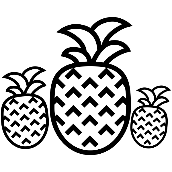 Pineapples Craft Stamp
