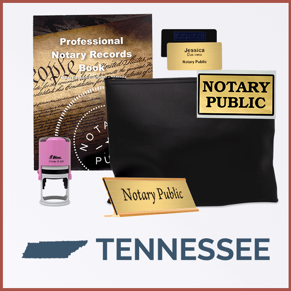 Tennessee Pink Deluxe Notary Kit