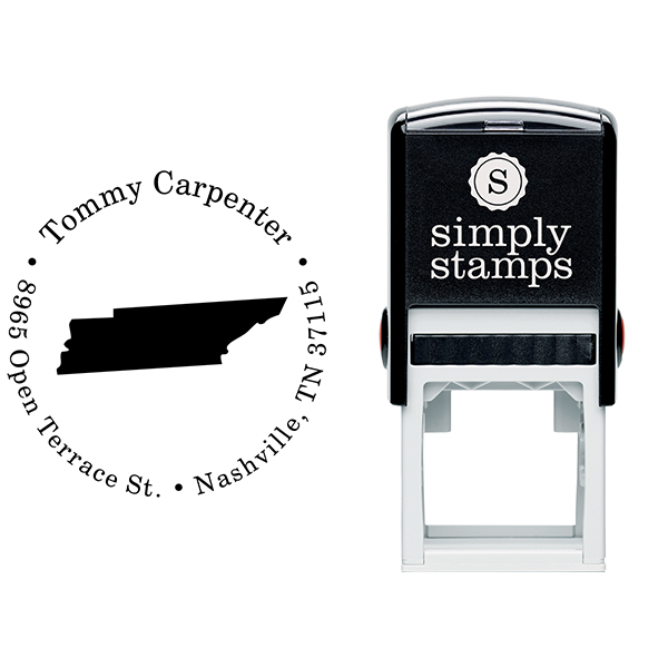 Tennessee Round Address Stamp Body and Design