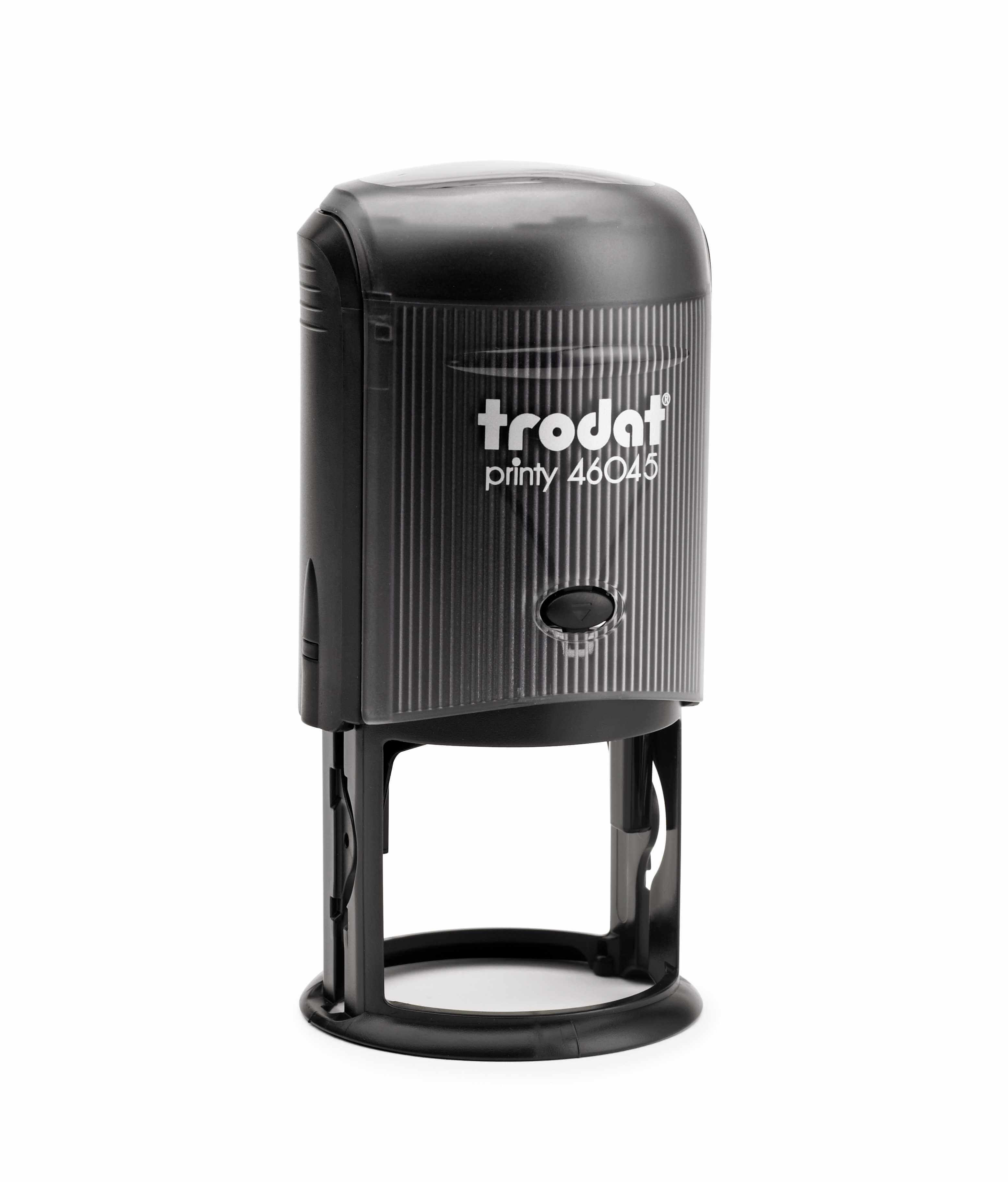 Trodat 46045 Round Stamp with Black Ink