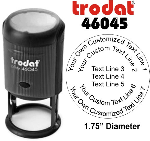 Trodat Printy 46045 | Ideal 46045 7 Line Round Self-Inking Stamp - Simply Stamps