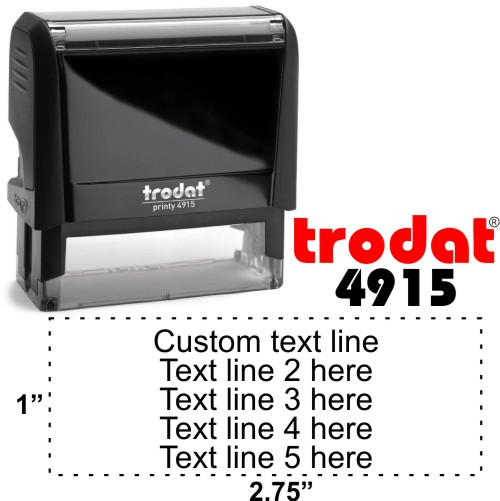 Trodat Printy | Ideal 4915 5 Line Self-Inking Stamp - Simply Stamps