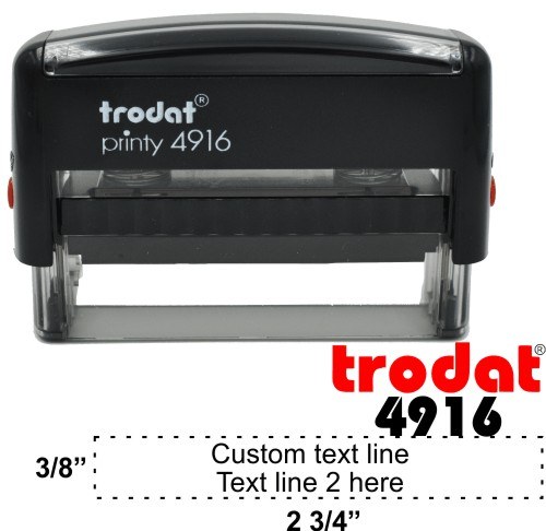 Trodat Printy 4916 | Ideal 5770 2 Line Self-Inking Stamp - Simply Stamps