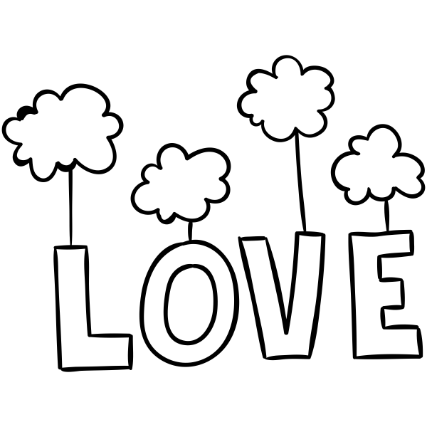 Love from the Clouds Craft Stamp