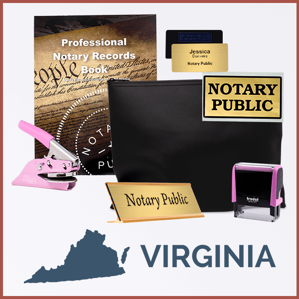 Virginia Pink Deluxe Notary Kit