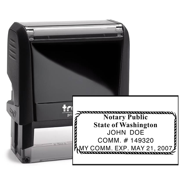 Washington Notary Seal Stamp