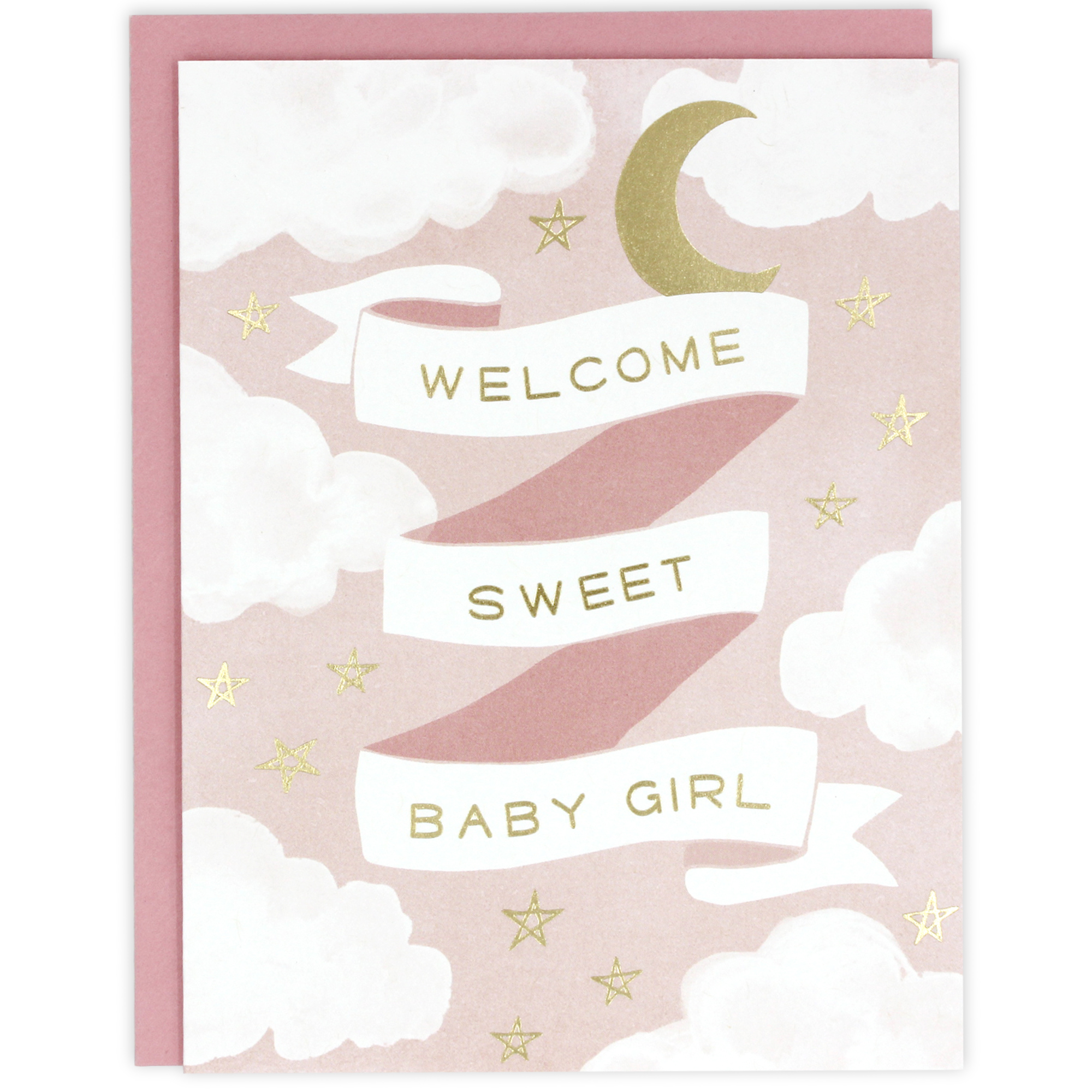 welcome sweet baby girl card