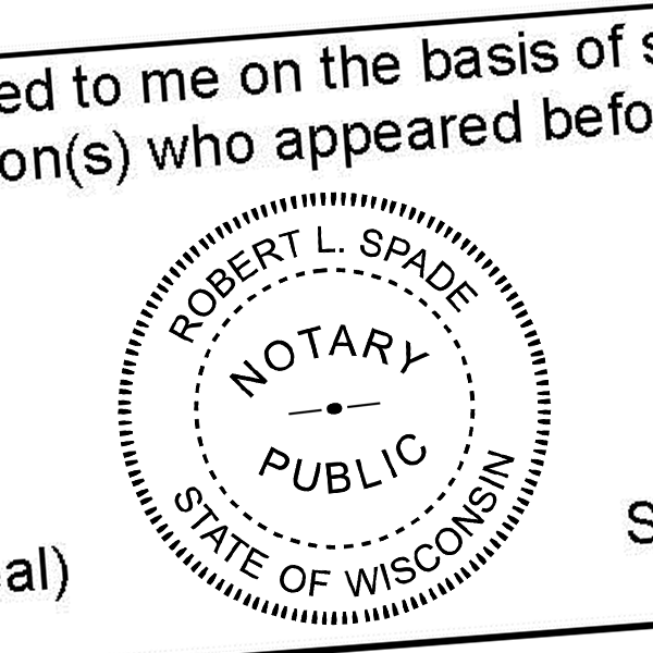 More Views Wisconsin Notary Seal Stamp
