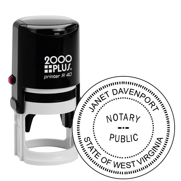West Virginia Notary Round Seal Stamp