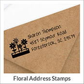 Flower Address Stamps