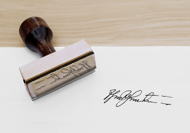 rubber signature stamps