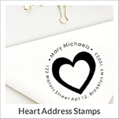 Heart Address Stamps
