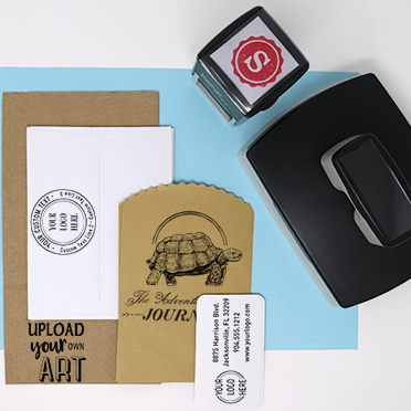 Logo Stamps on Different Materials