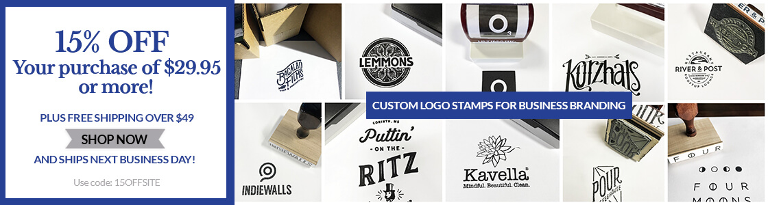 15% Off Custom Stamps