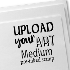 Upload Your Art Rubber Stamp