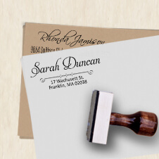 Wood Handle Rubber Stamps
