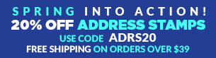 20% off Address Stamps!