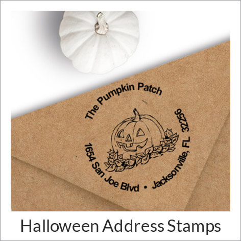 Fall & Halloween Address Stamps