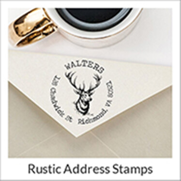 Rustic Fall Address Stamps