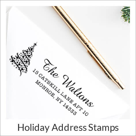 Christmas Address Stamps