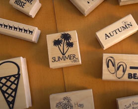 Assortment of craft stamps
