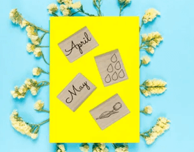 spring scrapbook with craft stamps