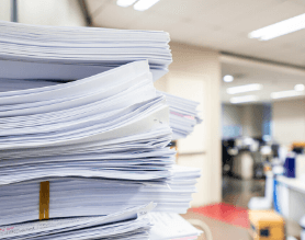 Stack of Paper in an Office