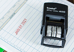Self Inking Stamps Rubber Stamp Next Business Day